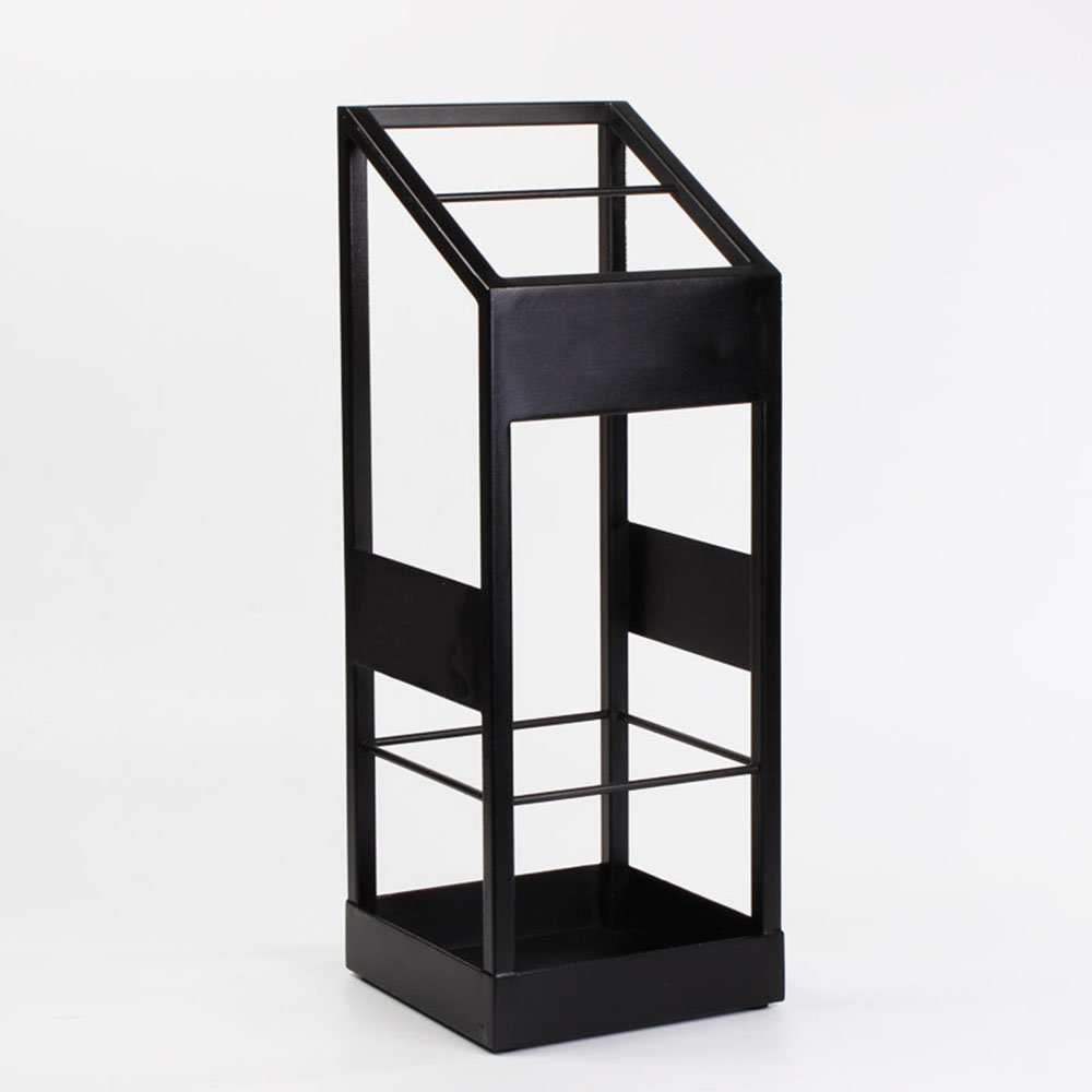 QFFL yusanjia 創造性家庭用アイアンアートアンブレラスタンド/多機能コンチネンタルフォイヤー傘棚/バルコニーパブリックスペース防湿傘スタンド 屋外傘立て ( 色 : ブラック ) B07CKBK1KVブラック