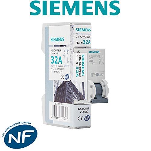 Disjoncteur /électrique phase SIEMENS neutre 32A