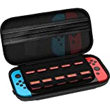 Carrying Case for Nintendo Switch - Protective Hard Portable Travel Carrying Storage Bag Best Case for Nintendo Switch Console & Accessories BLACK
