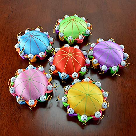 Carykon 4 Oriental Handmade Needle Pin Cushion with 10 Kids Hot Pink