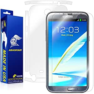 ArmorSuit MilitaryShield - Samsung Galaxy Note 2 Note II Screen Protector Shield + Full Body Skin Protector & Lifetime Replacements