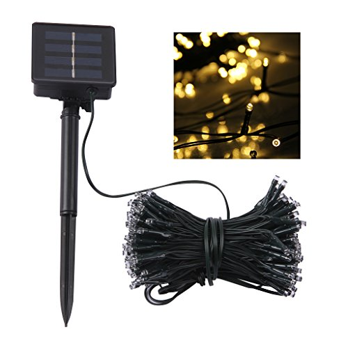 Cheap  Lampwin Outdoor Solar LED String Lights 2017 New Design 72FT 200LEDs Yellow..