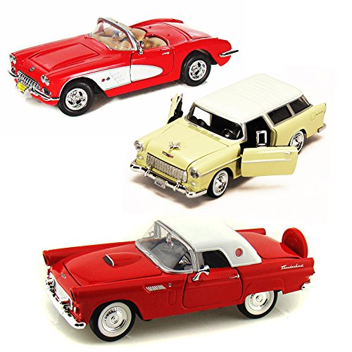 Best of 1950s Diecast Cars - Set 19 - Set of Three 1/24 Scale Diecast Model (1950s Chevy Cars)
