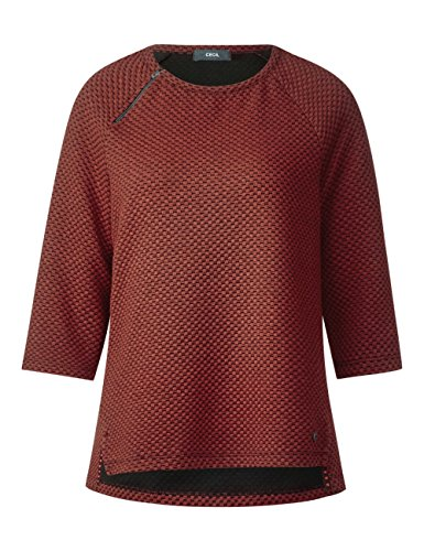 Cecil Femme 20984 Red Rouge Sweat Shirt Flame 1q0R6S1