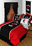 4pc NBA Miami Heat Twin Comforter and Sheet Set