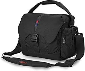 BPAULL Waterproof Camera Bag, Large DSLR Camera Shoulder Bag with Laptop Compartment Rain Cover, Outdoor Travel Camera Bag Case for Nikon Canon Sony Mirrorless Cameras, Lens, Tripod and Accessories