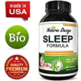Natural Sleep Aid Pills the Best Herbal Sleeping Formula with Melatonin, GABA, L Theanine and 5 HTP Top OTC Revitalizing Supplement Stack Fall Asleep Fast  for Adults by Natures Design