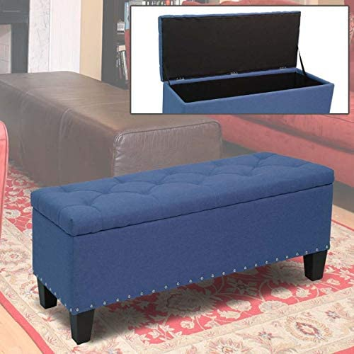Magshion Rectangular Storage Ottoman Bench Tufted Footrest Lift Top Pouffe Ottoman
