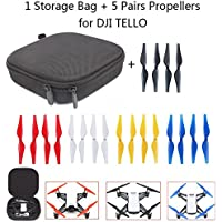 JointVictory Handheld Storage Bag + 5-Colors Quick Release Propellers Low-Noise Blades for DJI TELLO Drone (1 Bag + 5 color propellers)