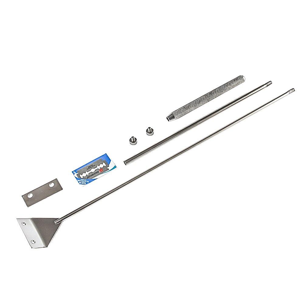 Hzfluo スクレーパー プロレイザー 苔取り 65cm 替え刃付10枚付き