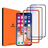 ZOVER Anti Blue Light Screen Protector Compatible with iPhone X XS, Eye Protect Blocks Excessive Harmful Blue Light, Anti-Blue Light Protective Film for 5.8 inch, 2 Pack-Black