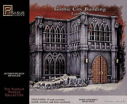 Amazon com: Pegasus Hobby WWII Gothic City Building Large