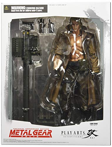 Square Enix Metal Gear Solid Play Arts Kai Liquid Snake Action Figure (Solid Snake Square Enix)