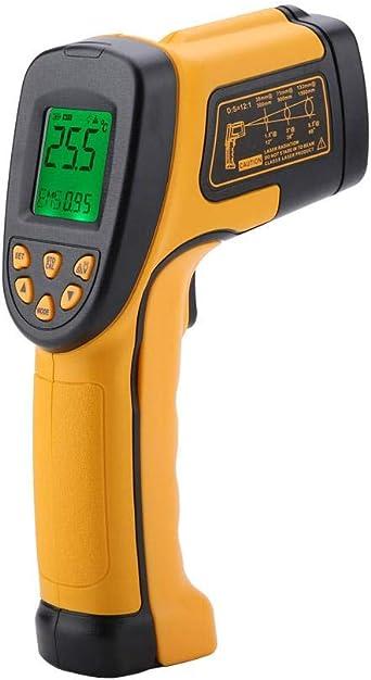 Digital Laser Infrarot Thermometer Smart Sensor As842a Digitales Berührungsloses Temperaturmessgerät Instant Read Temperatur Pistole 50 600 Lcd Beleuchtung Beleuchtung