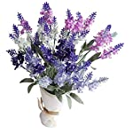 Artificial-Flower-Mixed-Color-Lavender-4-Bundle-Arrangement-for-Wedding-Bouquet-with-White-Pink-Purple-Silk-Fake-Faux-Flowers-with-Greenery-Leaves-Stems-Table-Centerpiece-Ideas-DIY-Home-Decor-Party