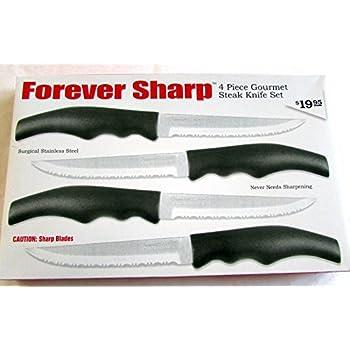 Amazon.com: Forever Sharp 4 Piece Gourmet Steak Knife Set