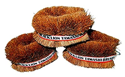 Set of 3 Japanese Tawashi Brushes for Cleaning Fruits & Vegetables & Other Household Cleaning from Black Lion