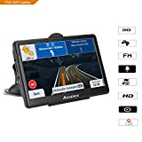 7 inch HD GPS Car Navigation System, 128MB System 8GB Memory Capacitive Touch Screen, Real Man and Woman Broadcast Top Loading North America Map, Map Lifetime Free Update (Black)