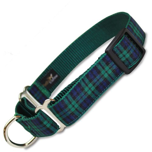 Plaid Martingale Collar, Blackwatch Tartan