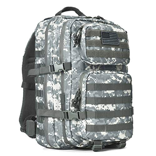 REEBOW GEAR Military Tactical Backpack Large Army 3 Day Assault Pack Molle Bug Bag Backpack Rucksacks for Outdoor Hunting Hiking Camping Trekking ACU Camouflage