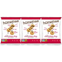 Homefree Treats You Can Trust Gluten Free Mini Cookies, Single Serve, Chocolate Chip, 1.1 Ounce (Pack of 30)