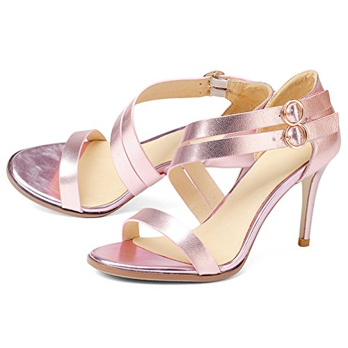 Twgdh High Evening Nupciales Pink Dama Party Sandals Stiletto Honor Prom Peep Zapatos De Heels Toe S48Snqrx