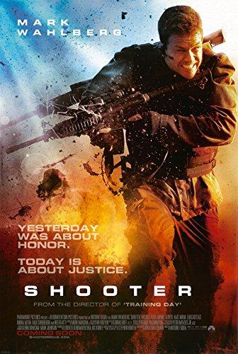 SHOOTER MOVIE POSTER 2 Sided ORIGINAL INTL 27x40 MARK WAHLBERG