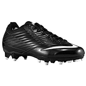 Nike Mens Vapor Speed Low TD Molded Football Cleats (10.5 D(M) US, Black/White)