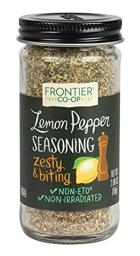 Frontier Seasoning Blends, Salt-Free Lemon Pepper, 2.08-Ounce Bottle ()