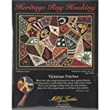 M C G Textiles Heritage Rug Hooking Kit, 20-Inch by 27-Inch, Victorian Patches