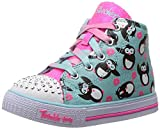 Skechers - 10726N Twinkle Toes Lace Boots In Light Blue and Pink, LBPK, 4 UK Child