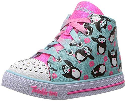 Skechers Kids Kids Shuffles-Cutie Crew Sneaker Light Blue/Pink
