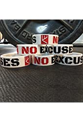 """NO EXCUSES 1"""" Fitness Silicone Wristband"""