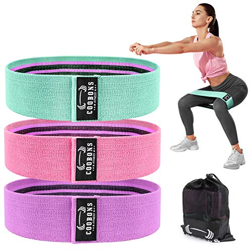 Resistance Bands for Legs and Butt Exercise Bands Set Booty Bands Hip Bands Wide Workout Bands Resistance Loop Bands Anti Slip Circle Fitness Band Elastic Set 3