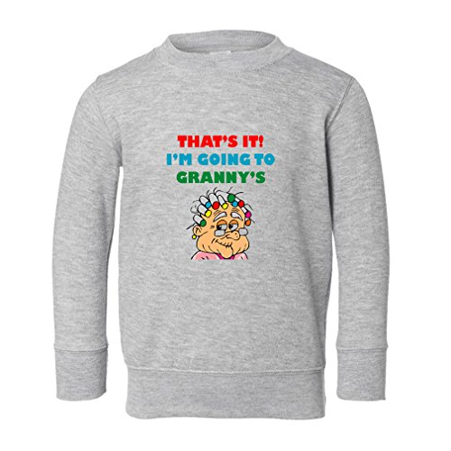 Cute Rascals Funny That's It! I'm Going to Granny's Toddler Long Sleeve Pullover Sweatshirt Oxford Gray (Granny Oxford)