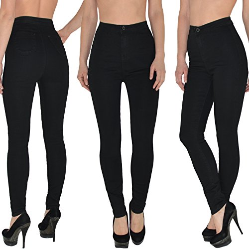8f7a5c1dc4aa by-tex Womens Skinny Jeans High Waisted Jeans for Ladies Pants for Girls  Jeggings up to Oversize - Z92
