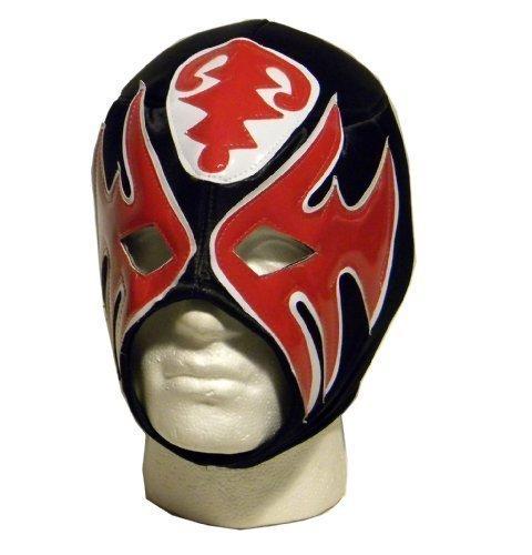 Luchadora Atlantico black red white lucha libre wrestling mask by Luchadora by Luchadora