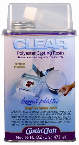 Environmental Technology 16-Ounce with 1/2-Ounce Catalyst Casting' Craft Polyester Casting Resin, Clear