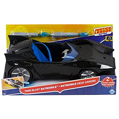 Justice League Action Twin Blast Batmobile Vehicle: Toys & Games