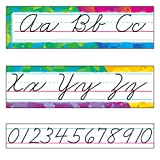 TREND enterprises, Inc. Color Splash Alphabet Line Zaner-Bloser Cursive B.B. Set