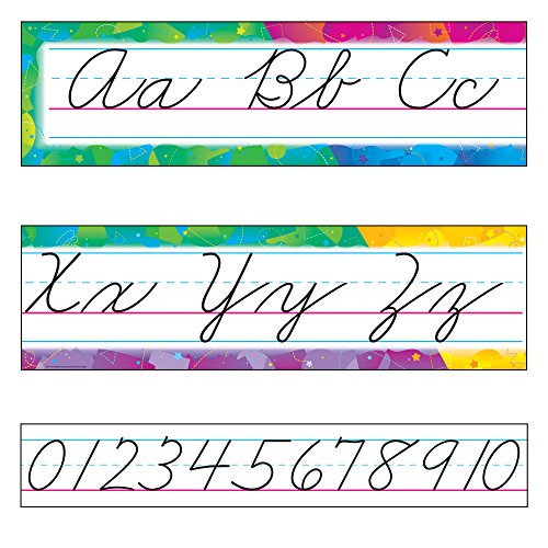 TREND enterprises, Inc. Color Splash Alphabet Line Zaner-Bloser Cursive B.B. Set -