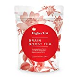 Brain Boost Tea By Higher Tea, Organic Mental Focus Drink Improves Memory Function Naturally, Enhances Clarity, Wellness Without Supplements, Caffeine Free Reviews