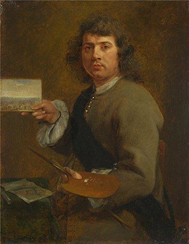 Theポリエステルキャンバスの油絵` Gonzales Coques Sight ( Portrait of Robert van den Hoecke )」、サイズ: 12x 15インチ/ 30x 39cm、このアート装飾プリントキャンバスは、フィットの廊下ギャラリーアートとホームギャラリーアートとギフトの商品画像