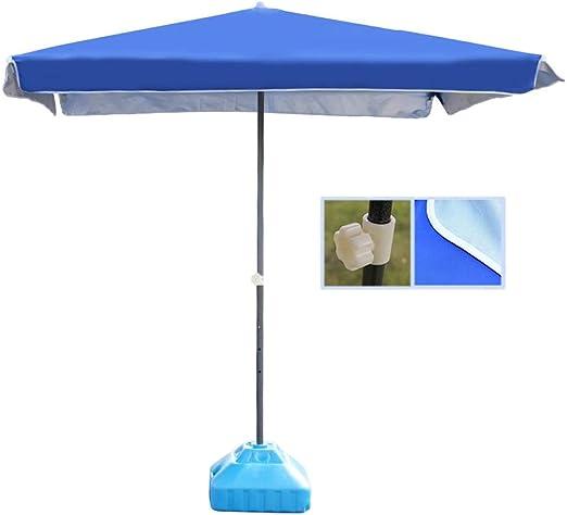 Sombrillas Paraguas De Patio Rectangular Azul Paraguas De Mesa De ...