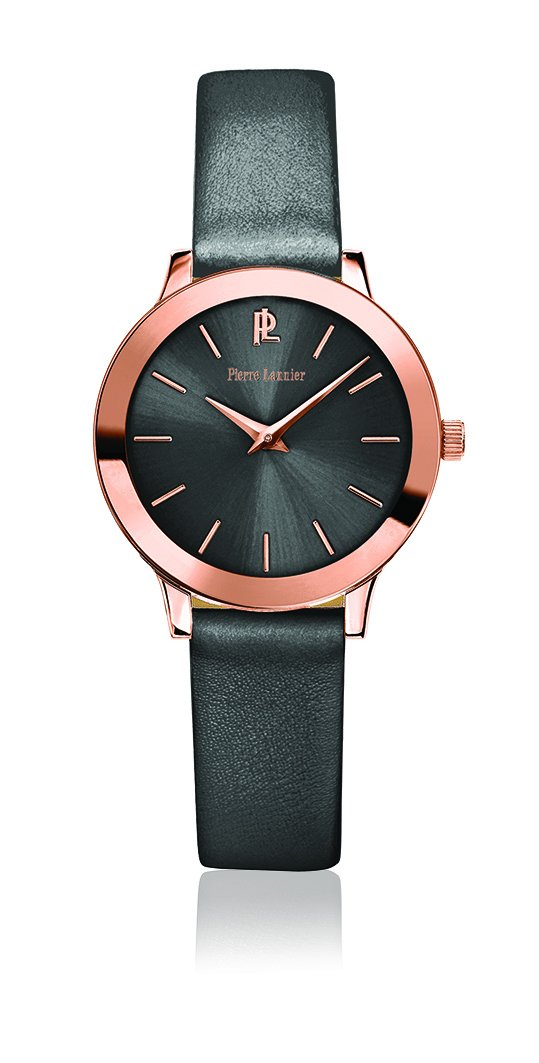 Women's Watch Pierre Lannier - 023K989 - WEEK-END LIGNE PURE - Grey and Rose-Gold - Leather Band