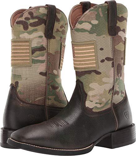 ARIAT Men's Sport Patriot Camo Western Boot Wide Square Toe Brown 10 D