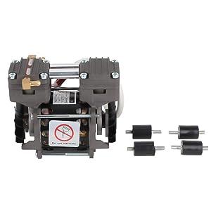 Oilless Vacuum Pump, Mini Oilfree 620mmHg/-82kpa 20L/min Vacuum Air Pump for Lab, Medical,Automatic 220V 85W