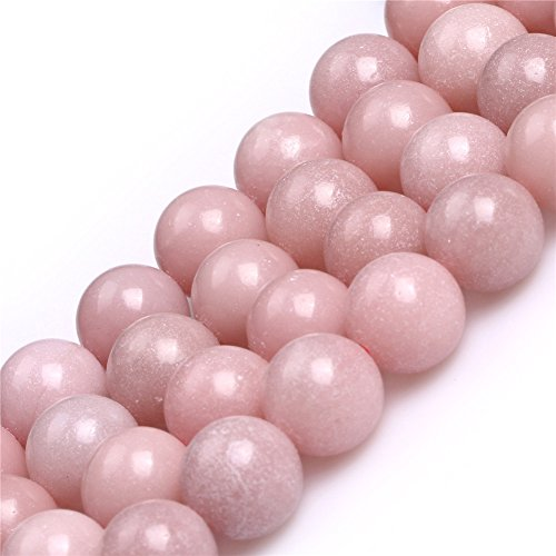 Round Pink Opal Gemstone Loose Beads for Jewelry Making Handmade DIY One Strand 15