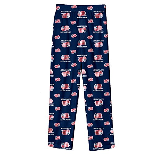 fan products of MLS New England Revolution BoysAll Over Team Logo Sleepwear Printed Pants, Dark Navy, Large (14-16)