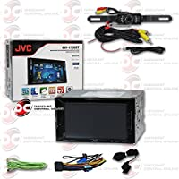 JVC 6.2 Car Double DIN 2DIN Touchscreen AM/FM DVD MP3 WMA CD Player USB Bluetooth with 170° Night Vision License Rear view Camera